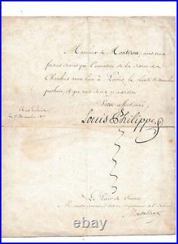 Lettre De Convocation A La Chambre Adressee A M De Montozon Signe Louis Philippe