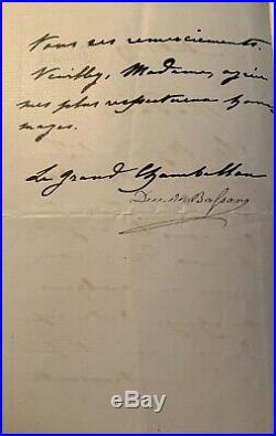 Lettre De La Part De Limpératrice Eugénie A Lépouse Du Général Frossard 1879