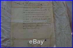 Lettre De Louis XV Du 22/09/1731 A En Tete Des Invalides Et Toulon
