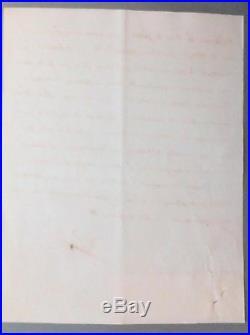 Lettre Manuscrite signée Napoléon premier Bonaparte