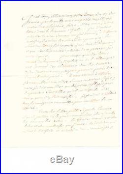Lettre Signee De Eugene De Beauharnais (autographe / Napoleon)