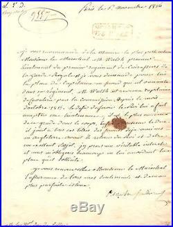 Lettre Signée Du Duc De Berry (1816) / Au Duc De Feltre