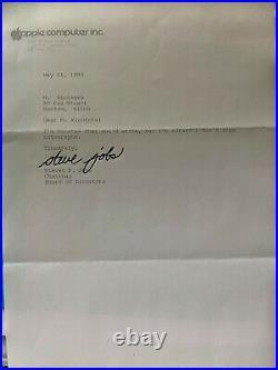 Lettre authentique signée par STEVE JOBS (1983)