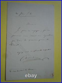 Lettre autographe Camille SAINT-SAENS (1835-1921) COMPOSITEUR 1880