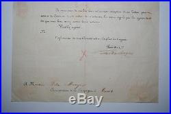 Lettre autographe Ferdinand DE LESSEPS 1862 Compagnie Maritime Canal de Suez