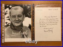 Lettre autographe signée de Marcel Pagnol À propos dun buste -Belle signature