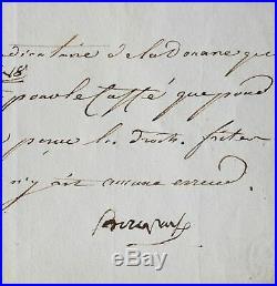 Lettre de Bonaparte avec plusieurs mots autographes, écrite du Caire
