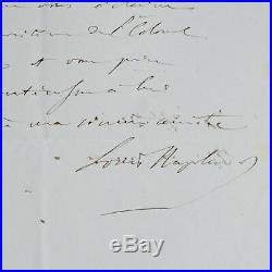 Lettre de Louis-Napoléon Bonaparte à un général