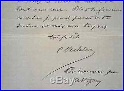 Lettre de Verlaine écrite de la ville natale de Rimbaud, Charleville