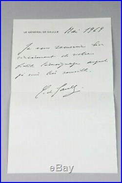 Lettre du Président Charles de Gaulle mai 1969