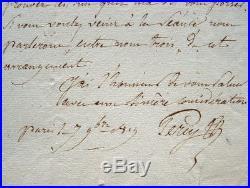 Lettre du chirurgien en chef de la Grande armée, Pierre François Percy