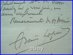 Lettre du véritable Arsène Lupin