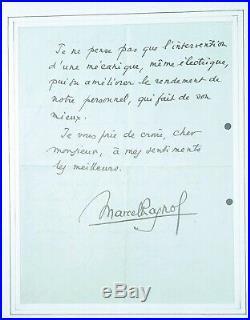 Lettre manuscrite originale Marcel Pagnol