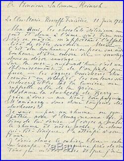 Liane de Pougy L. A. Signée Eva à Salomon Reinarch