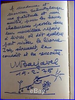 Livre D'or Dédicaces Dessins Originaux Paul Émile Victor, Jean Marais, Etc