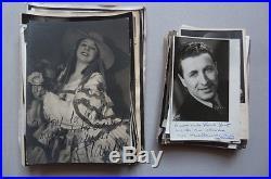 Lot 130 Photos 76 Autographe Dédicace Artistes Divers Musique Opéra Opérette