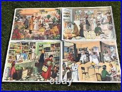 Lot Cadre Bois + Affiches Scolaires Rossignol École Coiffeur Fleuriste Mdi