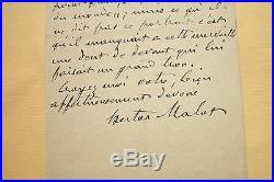 Lot Hector Malot Lettres autographes signées Photographie Nadar