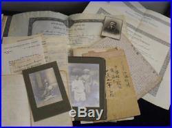 Lot Lettres Photos Souvenirs Professeur Voyages Japon Chine Russie 1°guerre
