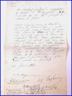 Lot Lettres manuscrites signées Urbain Le Verrier Astronomie Neptune Delisle