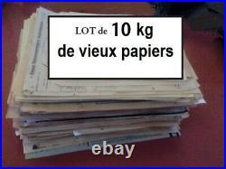 Lot de 10KG de vieux papiers