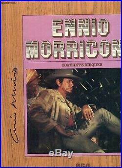 Lot de 6 Autographes de ENNIO MORRICONE & Charles BRONSON & J. ROBARDS & R. STEIGE