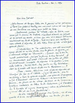Lot lettres autographes d'Henri Frenay fondateur de la Résistance + Fascicule