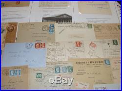 Lot tres belle collection de 142 documents, lettres, divers papiers. A etudier