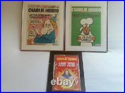 Lots De 7 Charlie Hebdo Super Sare! Voir Description