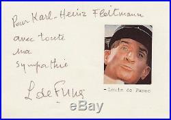 Louis De FUNES / Dédicace Autographe signée