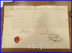 Louis Francois De Bourbon Prince De Conti Nomination Charge De Notaire 1756