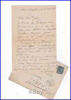Louis Pasteur / Lettre Autographe (1882) / Maladie Du Rouget De Porc /