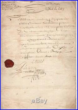 Louis XIV / Document Signé / Août 1752 / Passeport En Faveur De M. Corberon