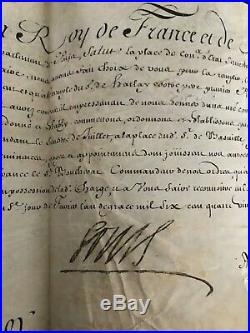 Louis XIV / Lettre Signée (1697) / Versailles / Nomination Conseiller D'etat
