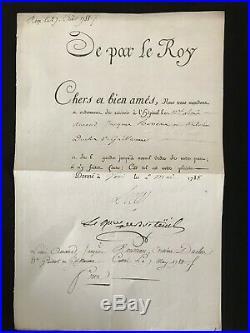 Louis XVI / Lettre Signée (secrétaire) / Versailles / Mai 1788 / Breteuil
