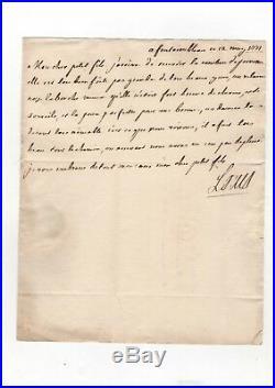 Louis XV / Lettre Autographe (1771) / Sur Louis XVIII / Comtesse De Provence /