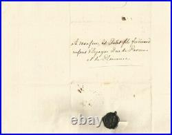 Louis XV Lettre autographe signée. La Reine et le Discours de la Flagellation