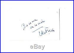 Louis de FUNES Carte Autographe Dédicace Signée