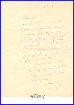 Louis-ferdinand Céline / Lettre Autographe Signée (1955) / Jacques Ovadia
