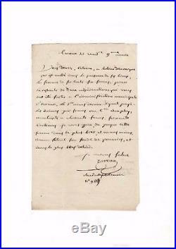 Louis-marie Turreau / Lettre Autographe (1800) / (vendée / Colonnes Infernales)