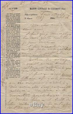 Louise Michel Lettre Autographe À Sa Mère Rarissime Document Depuis La Prison