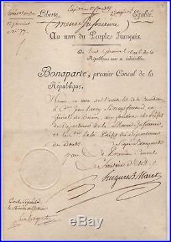Lucien Bonaparte / Lettre Signée (1800) / Co-signée Par Maret / Napoléon /