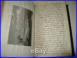 MANUSCRIT AUTOGRAPHE INEDIT IMPRESSIONS VOYAGES 1859 Illustré AMIENS NORD
