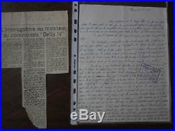MANUSCRIT commando delta IVcontre GENERAL DE GAULLE