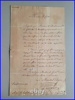 MARECHAL EMPIRE AUGEREAU ls 1813. Wurtzbourg, Allemagne