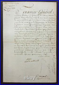MARIE ANTOINETTE Reine de France Lettre / Document signé -Louis XVI époux 1786