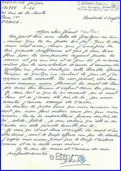 MESRINE (Jacques) Lettre autographe signée