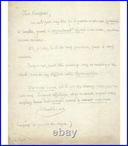 MONTESQUIOU Robert de, homme de lettres. Lettre autographe G 4269