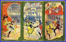 MOULIN ROUGE Couverture de programme originale entoilée (Litho de MISTI 1896)