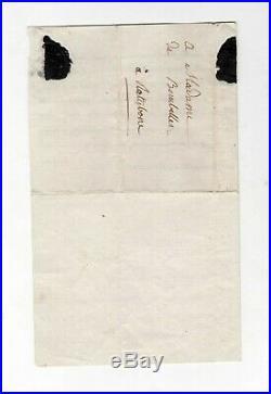 Madame Royale / Lettre Autographe Signée (1796) / Revolution / Louis XVI